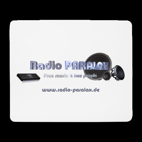 Radio PARALAX Facebook-Logo mit Webadresse - Mousepad (Querformat)