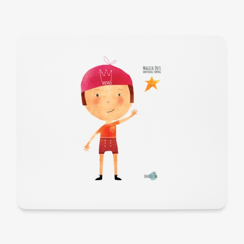 Maglietta mascotte Remo di Magical Dots Jr - Tappetino per mouse (orizzontale)
