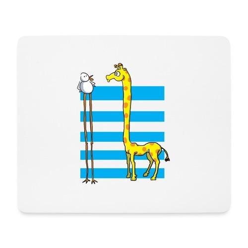 La girafe et l'échassier - Tapis de souris (format paysage)