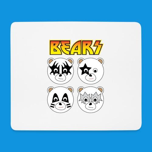 Kiss Bears square.png - Mouse Pad (horizontal)