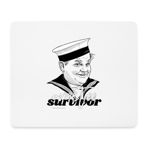 #metoo survivor - Mousepad (bredformat)
