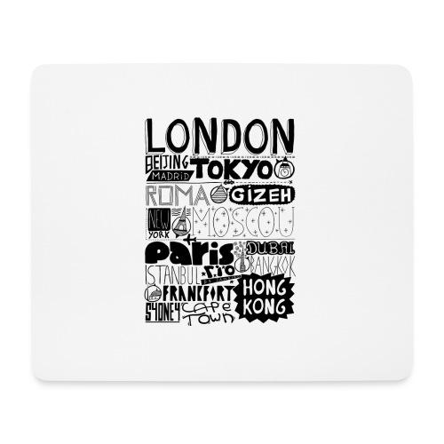 Villes du monde - Tapis de souris (format paysage)