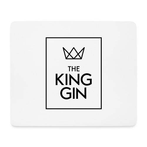 The King Gin Logo schwarz RGB Rahmen - Mousepad (Querformat)