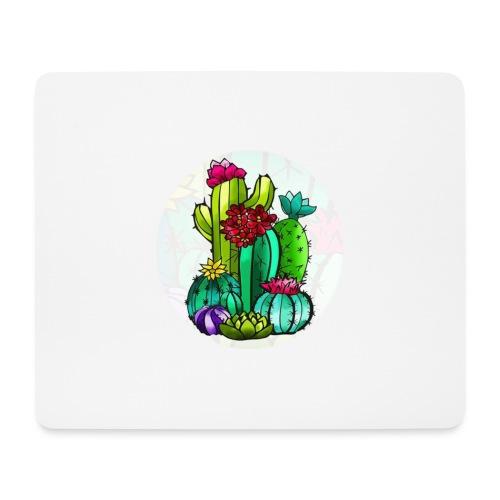 Cactus and flowers - Alfombrilla de ratón (horizontal)