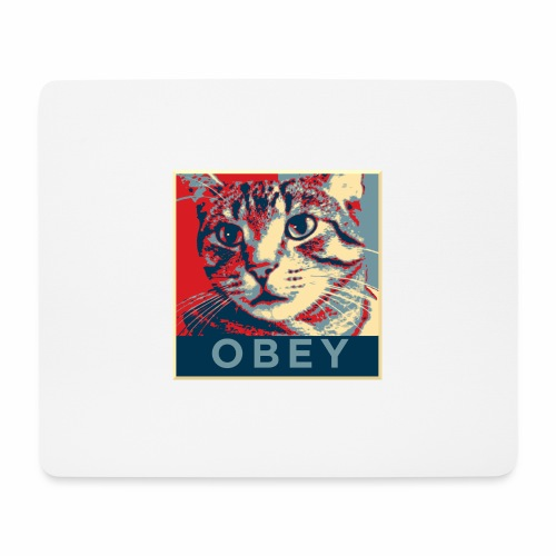 Obey the Cat! - Mousepad (Querformat)