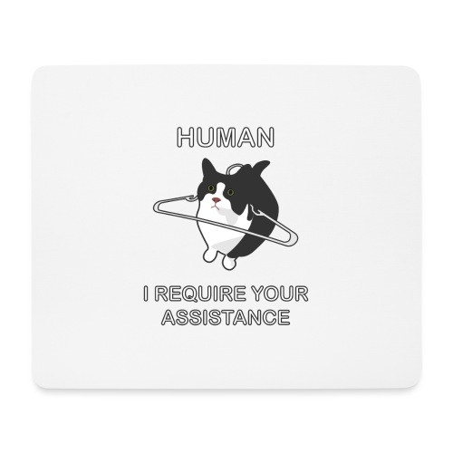 Human, I require your assitance! - Mousepad (Querformat)