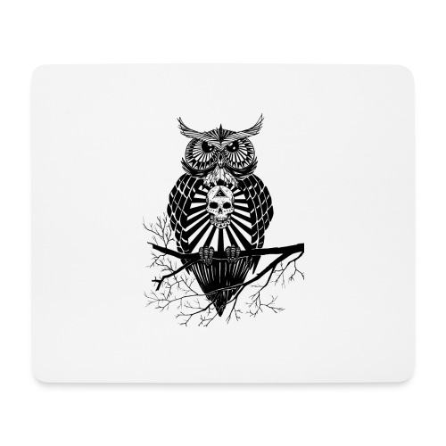 Hibou Psychédélique - Tapis de souris (format paysage)