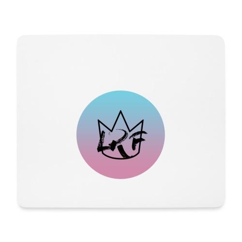 logo lrf rond black casquette - Tapis de souris (format paysage)