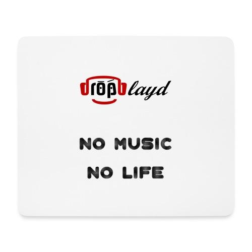 dropblayd Merch - No Music No Life - Mousepad (Querformat)