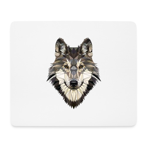 wolf, polygon design, unique - Mouse Pad (horizontal)