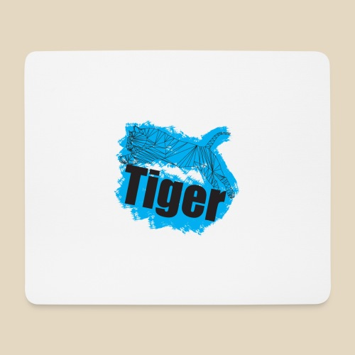 Blue Tiger - Tapis de souris (format paysage)