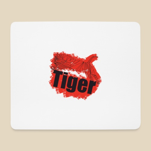 Red Tiger - Tapis de souris (format paysage)