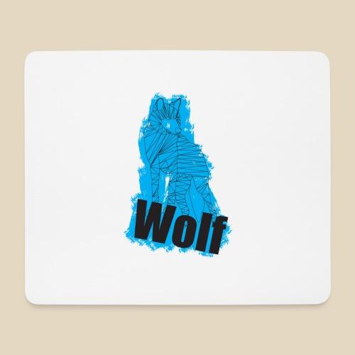 Blue Wolf - Tapis de souris (format paysage)