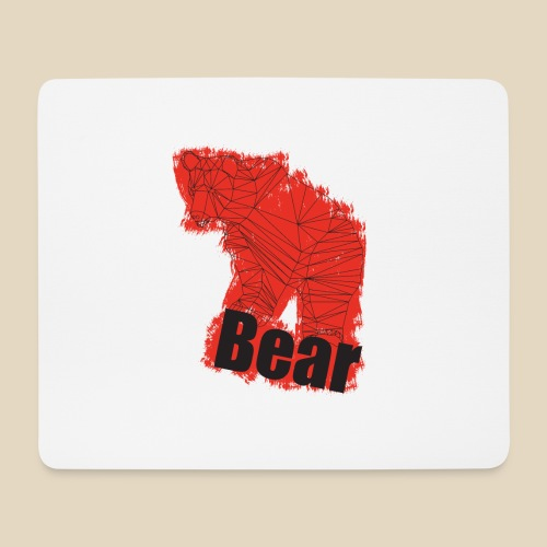 Red Bear - Tapis de souris (format paysage)