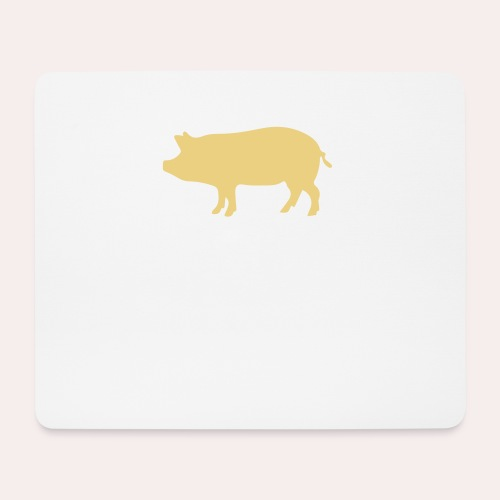 Nunca comas más de lo que puedas levantar - Alfombrilla de ratón (horizontal)