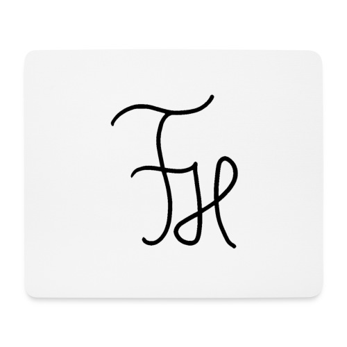 FH LOGO schwarz - Mousepad (Querformat)