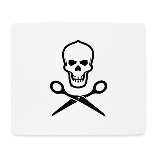 Totenkopf mit Schere - Mousepad (Querformat)