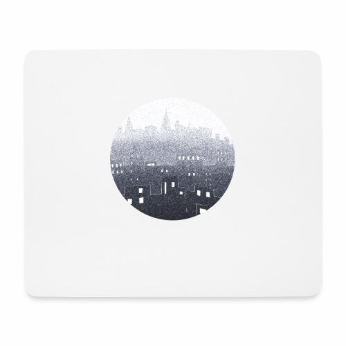 city hall snow blue - Tapis de souris (format paysage)