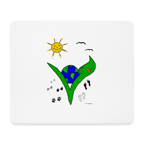 Ein Logo geht um die Welt - Mousepad (Querformat)