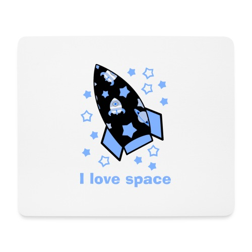 I love space - Tappetino per mouse (orizzontale)