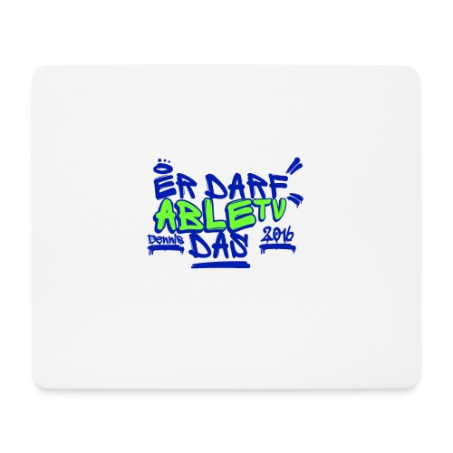 AbleTV Grafitti Logo Marken Shirt (Er Darf Das) - Mousepad (Querformat)