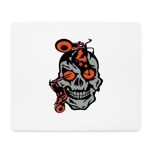 tete mort moto motrocycle oeil skull - Tapis de souris (format paysage)