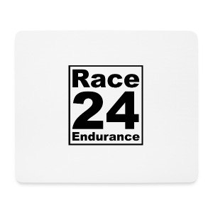 Race24 logo in black - Mouse Pad (horizontal)