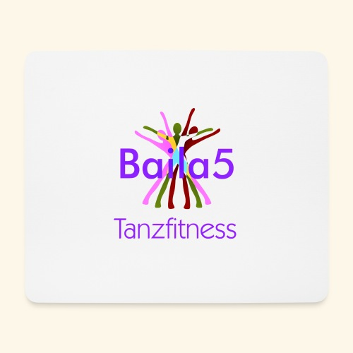 Baila5 Tanzfitness violet - Mousepad (Querformat)