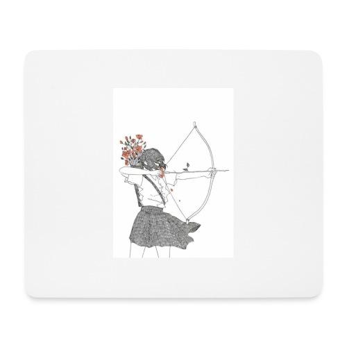 Mädchen mit bogen - Mousepad (Querformat)