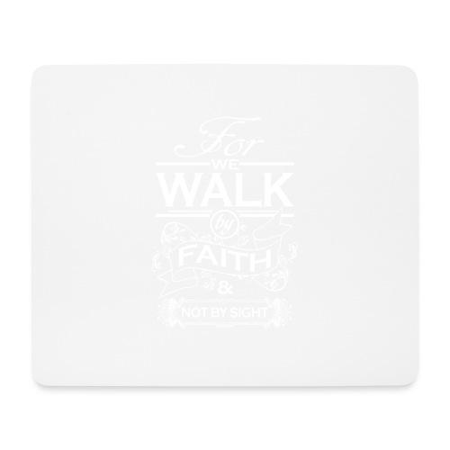 walk white - Mouse Pad (horizontal)