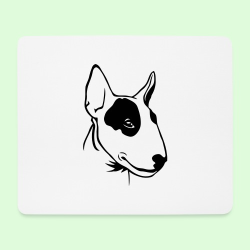 Bull Terrier - Tapis de souris (format paysage)