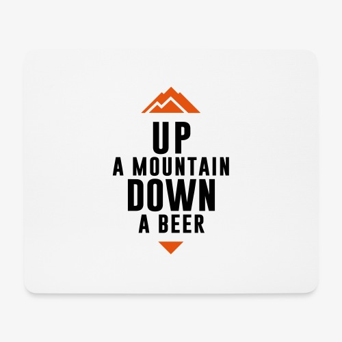 UP Mountain Down Beer - Tapis de souris (format paysage)