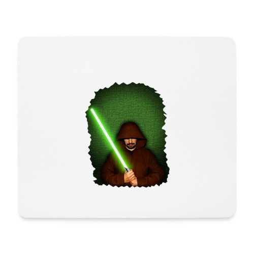 Jedi warrior with green lightsaber - Tappetino per mouse (orizzontale)