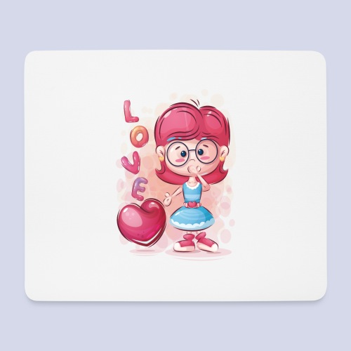 Funny and lovely girl cartoon design - Mouse Pad (horizontal)
