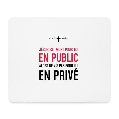 Public ou privé - Tapis de souris (format paysage)