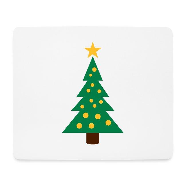Weihnachtsbaum Mit Kugeln Und Einem Stern Mousepad Querformat