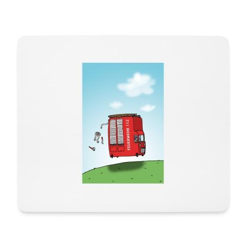 Feuerwehrwagen - Mousepad (Querformat)