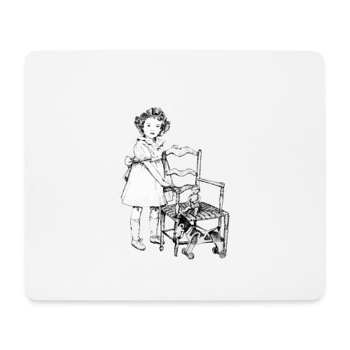 Nelly et sa chaise - Tapis de souris (format paysage)