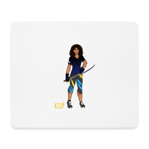 Sabre fencer - Mouse Pad (horizontal)