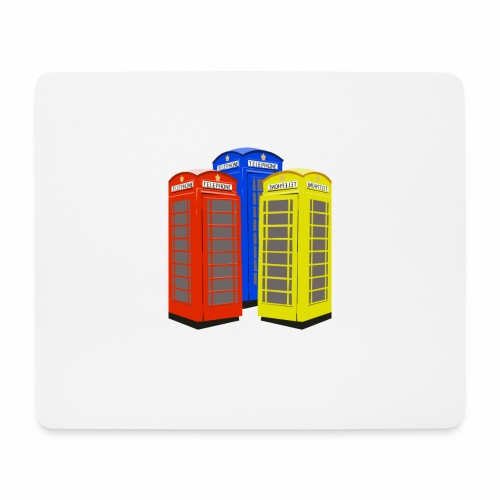 London Phoneboxes - Mouse Pad (horizontal)