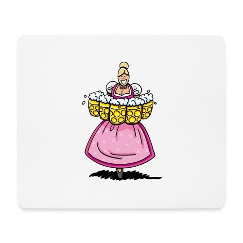 Pink Oktoberfest Beer Waitress - Mousepad (Querformat)