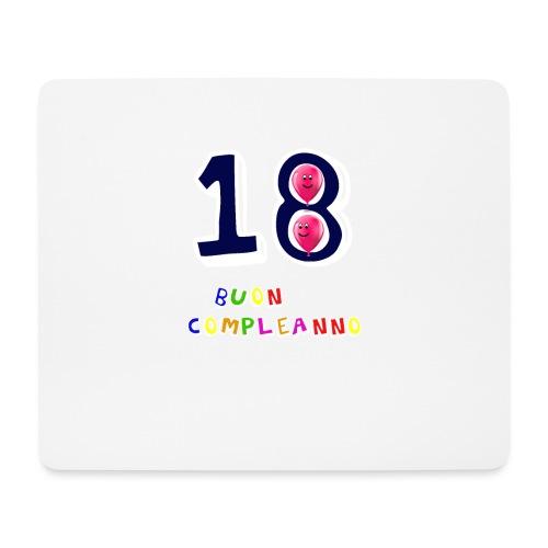 18 BUON compleanno - Tappetino per mouse (orizzontale)