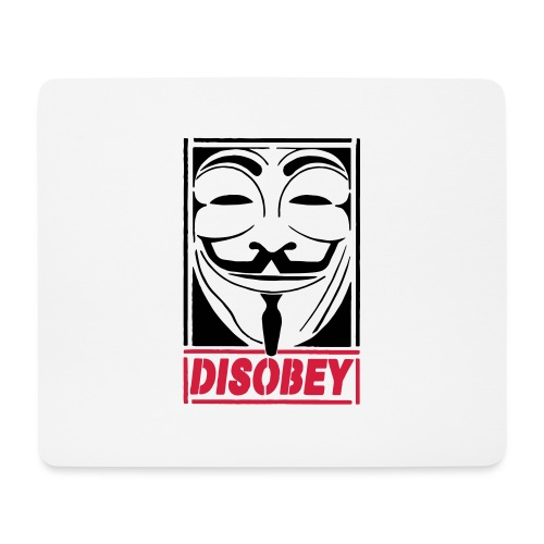 disobey - Mousepad (bredformat)