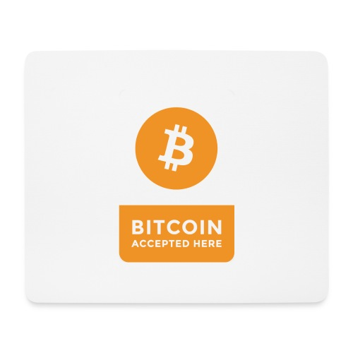 Bitcoin Accepted Here - Tappetino per mouse (orizzontale)