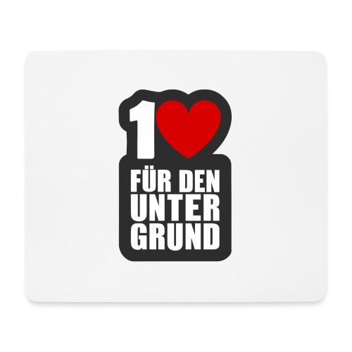 1 Herz für den Untergrund - Logo grau - Mousepad (Querformat)