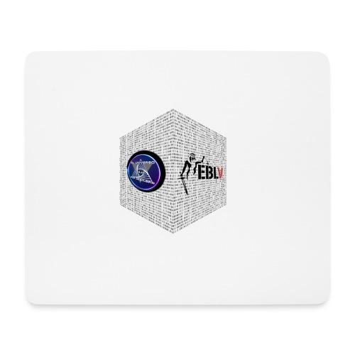 disen o dos canales cubo binario logos delante - Mouse Pad (horizontal)