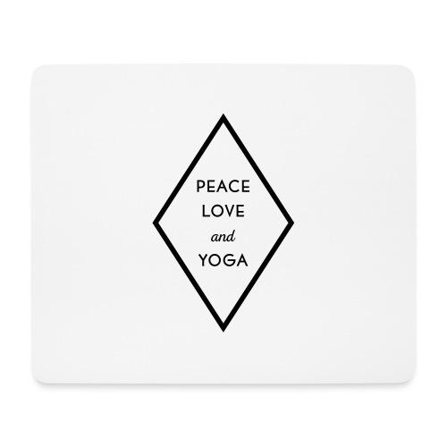 Peace Love & Yoga - Mousepad (Querformat)