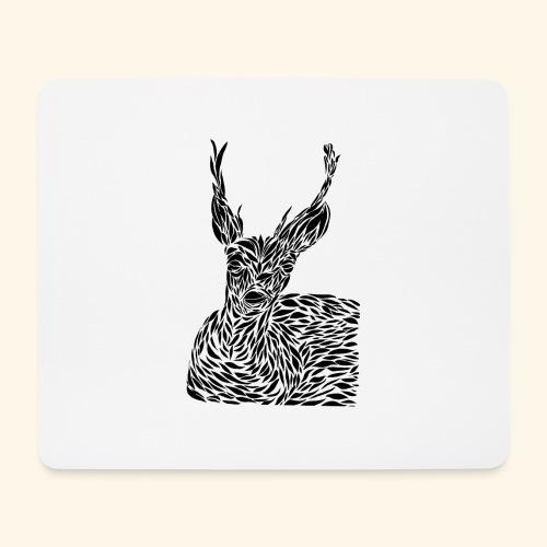 deer black and white - Hiirimatto (vaakamalli)