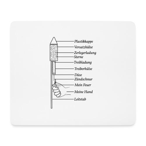 Silvester Rakete Pyro - Mousepad (Querformat)
