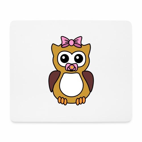 Eule Mädchen Schnuller - Mousepad (Querformat)